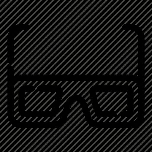 cinema, entertainment, film, glasses, movie, show icon