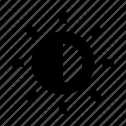 brightness, contrast, photo, picture, sun, video icon