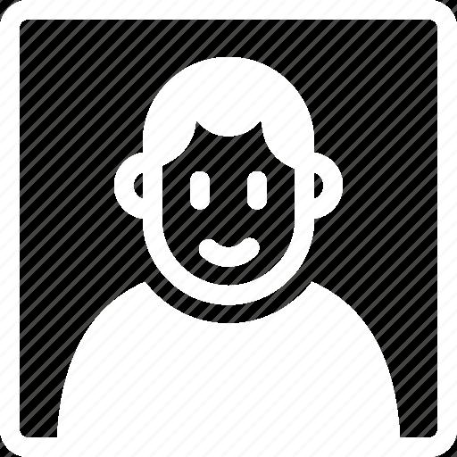 face, frame, image, personal, photo, portrait, profile icon
