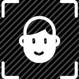 face, focus, personal, portrait, selfie icon