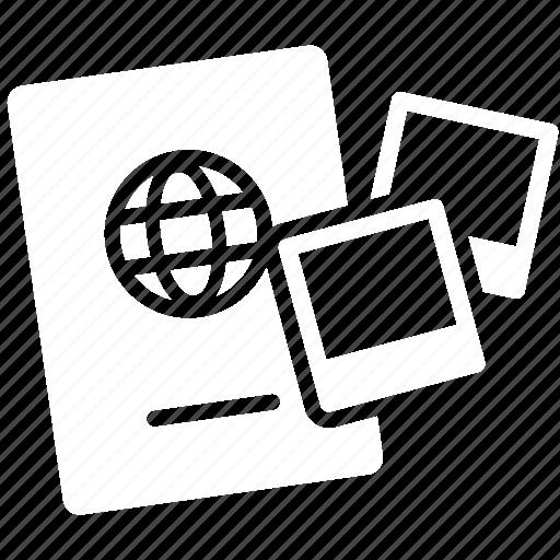 documents, passport, photo, pictures icon