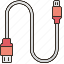 cable, connection, data, transfer, usb icon