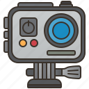 action, adventure, camera, digital, recorder icon