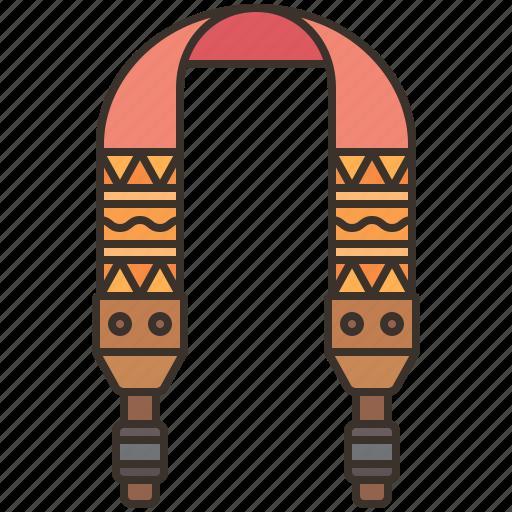 belt, camera, hang, hold, strap icon