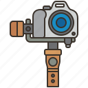 device, gimbal, holding, portable, stabilizer icon