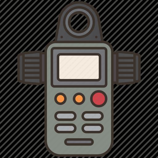 device, light, measurement, meter, sensor icon