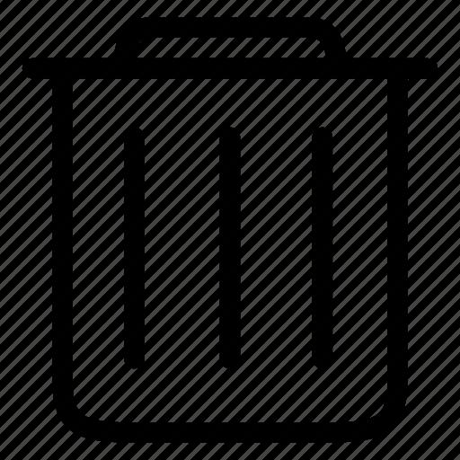 can, delete, recycling, remove, trash icon