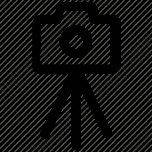 camera, camera stand, digital camera, image, photo shot, photography, stand icon