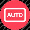 auto, auto mode, auto shooting, camera mode, digital camera, photo, photography icon