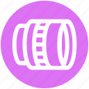 camera, front, lens, photo, photography, telescope, tripod icon