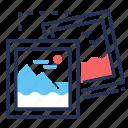 collage, nature, photo frames, photos icon