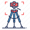 camera, photo, stand, tripod icon