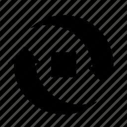 arrow, camera, flip, photo, photography, picture, square icon