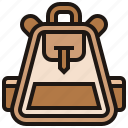 backpack, bag, carry, gears, travel icon