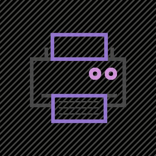 document, print, printer, printing icon
