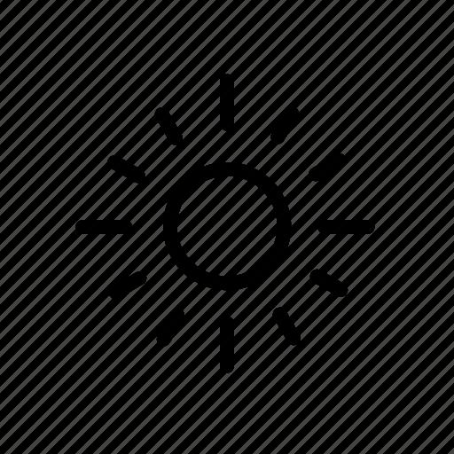 bright, brighten, brightness, exposure, sun icon