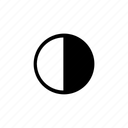 black and white, contrast, contrasty, gamma icon