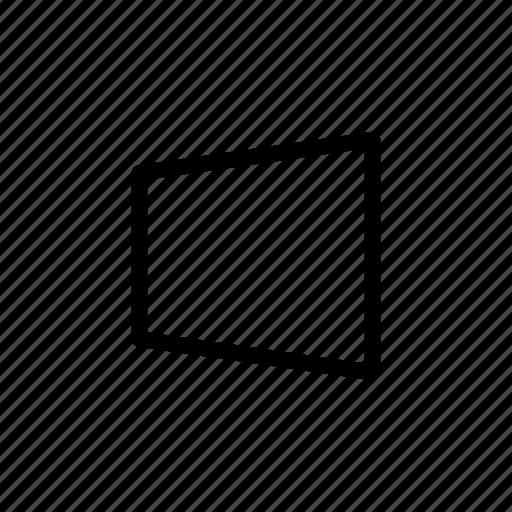 perspective, side, skew, transform icon