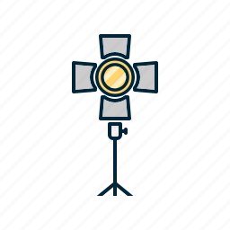 camera, digital, light, photography, stand icon
