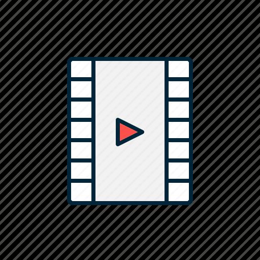 cinema, digital, film, media, movie, photo, strip icon