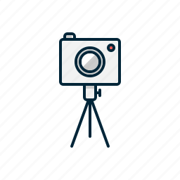 camera, digital, photo, photography, tripod icon
