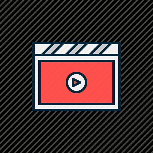 action, camera, cinema, film, movie, video icon