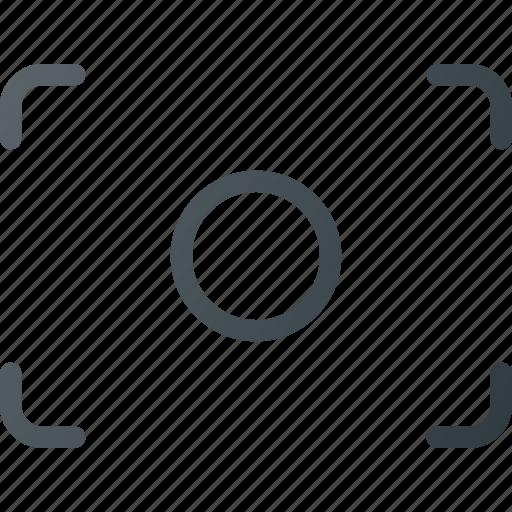 center, focus, image, photo, photography icon