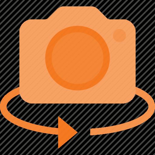 camera, degree, image, photo, photography, rotate icon