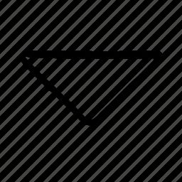 arrow, direction, down, move icon
