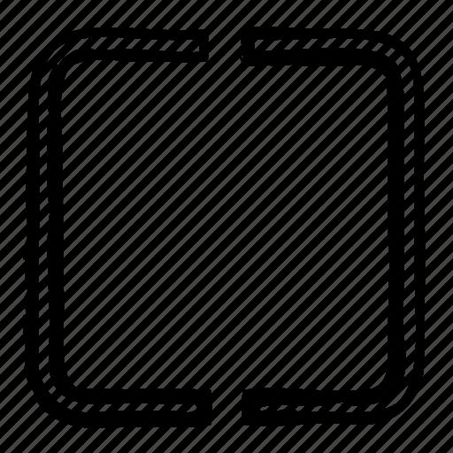 area, average, camera, field icon