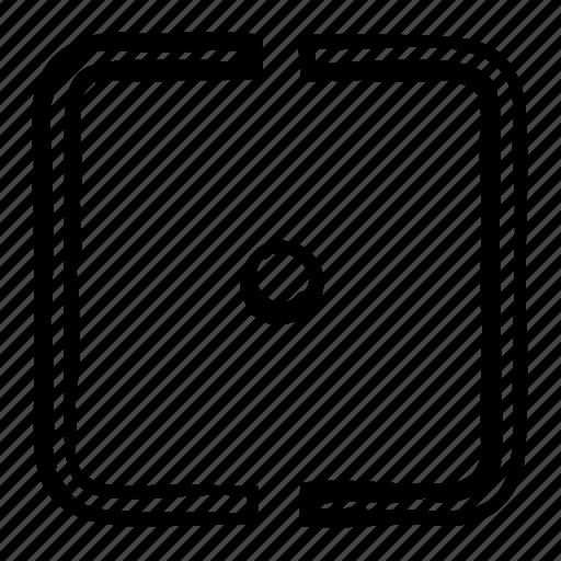 arrow, focus, point, pointer icon