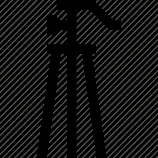 camera, legs, movie, shoot, stabil, tripod, video icon