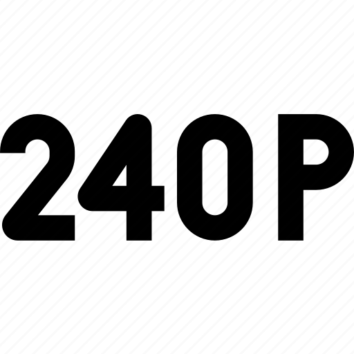 movie, p, twenty hundred forty, video, video resolution icon