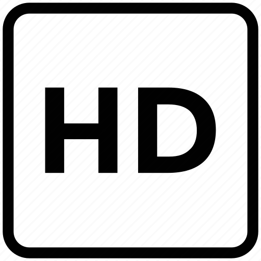 entertainment, hd, hd sign, hd video, high, high definition, stamp, video icon