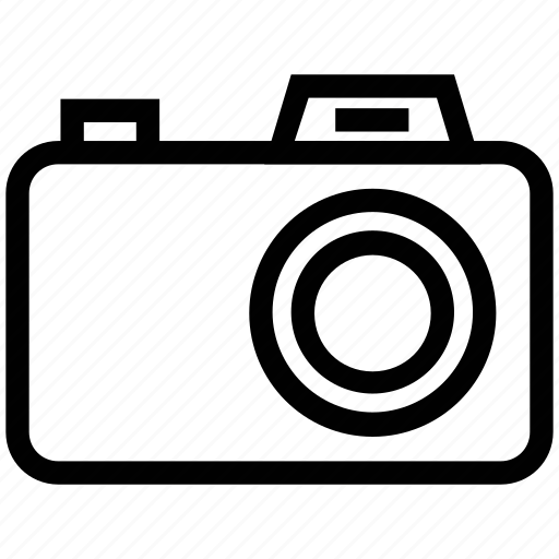 camera, camera outline, digital camera, flash camera, photo camera, photography icon