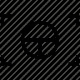 camera focus, camera set, cut image, land over icon