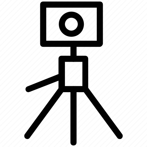 camera, camera with stand, movie camera, movie camera stand, photo studio stand, photography stand icon