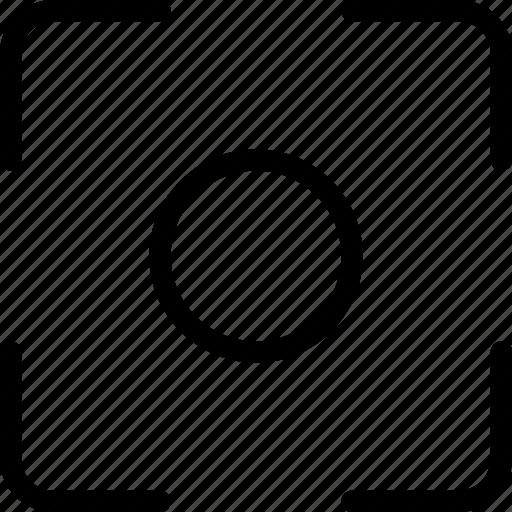 camera, center, focus, image, picture icon