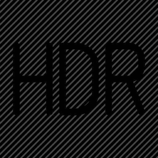 camera, hdr, image, on, photo icon