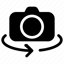 camera, image, photo, picture, rotate icon