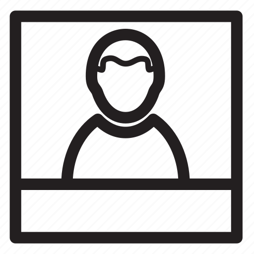 man, photo, picture, polyroid, portrait icon