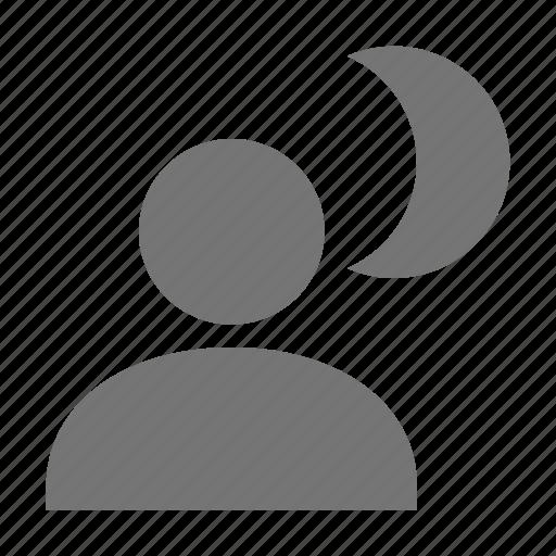 night, night mode icon
