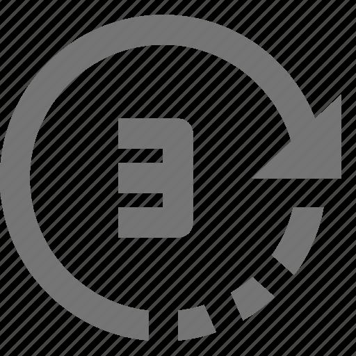 arrow, camera, timer icon