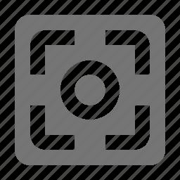 focus, record icon