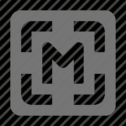 focus, manual focus icon