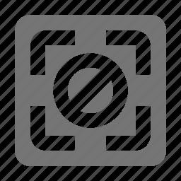 block, focus, stop icon