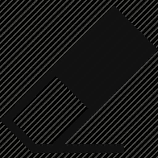 delete, erase, eraser, rubber icon