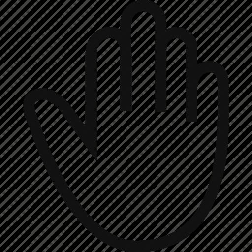 cursor, hand, stop, warning icon
