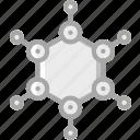 education, molecules, physics, science icon