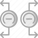 education, magnets, physics, repel, science icon